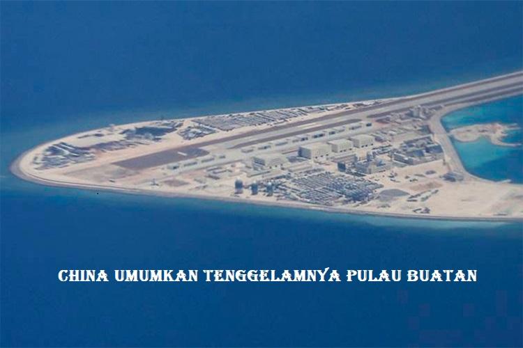 China Umumkan Tenggelamnya Pulau Buatan